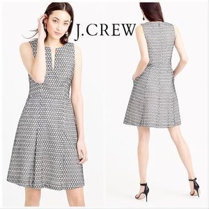 J Crew Contrast Eyelet embroider fit & flare dress